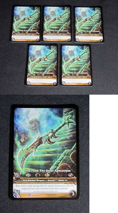 Epic Lot of 5 World of Warcraft WoW TCG Jin/'rohk The Great Apocalypse Honor