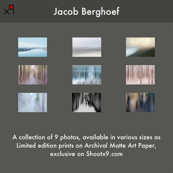 As of today, acollection of 9 of my photos is available in various sizes asLimited edition prints on Archival Matte Art Paper (framed or unframed, sizes in inches),exclusive on Shootx9  &n…