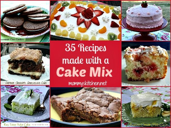 35 Cake Mix Recipes. Cookies, Breads, Cakes & Desserts! All baked with a ordinary store bought cake mix.
