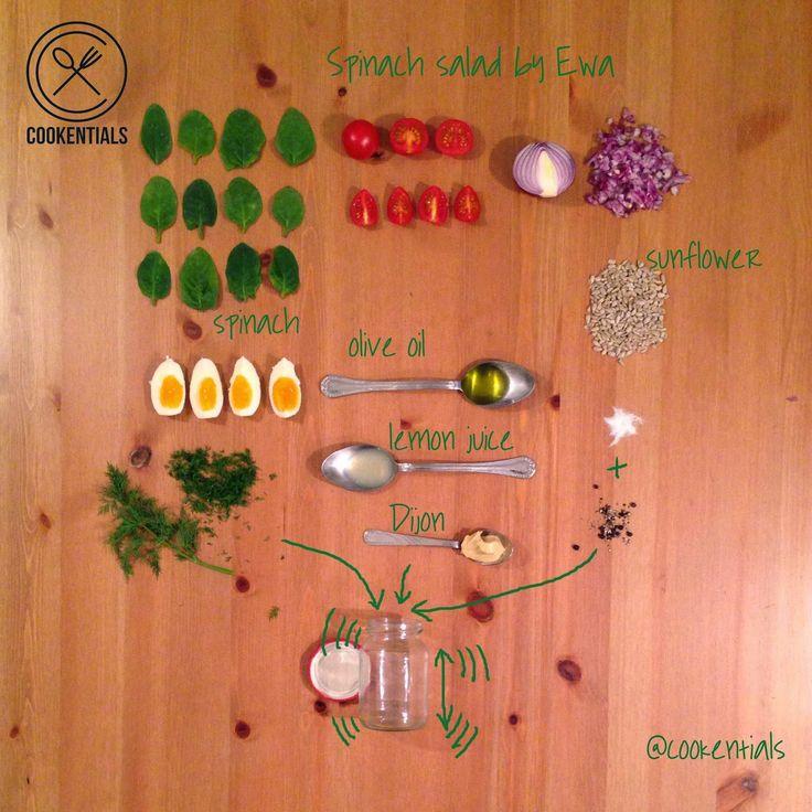 Spinach salad by Ewa Chodakowska. More great recipies on www.coookentials.com