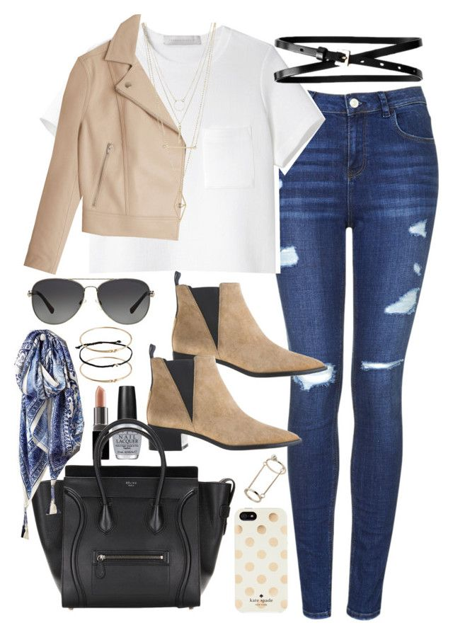 """""""Outfit for shopping in autumn"""" by ferned ❤ liked on Polyvore featuring Topshop, Proenza Schouler, Acne Studios, T By Alexander Wang, Banana Republic, OPI, Smashbox, Kate Spade, Charlotte Russe and ASOS"""