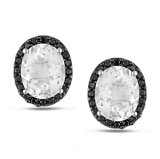 (Miadora 14k White Gold White Topaz and 2/5ct TDW Black Diamond Earrings | Overstock) the related yin yang personality/color/style systems have similar jewelry recommendations. several authors recommend for #winter / #type4  = oval, polished silver, large size, contrast, stillness, faceted stones with sparkle.