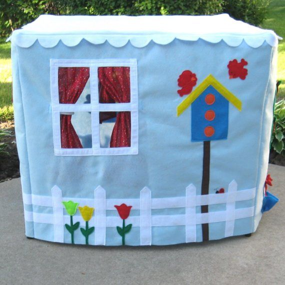 Sky Cottage Card Table Playhouse Personalized by missprettypretty