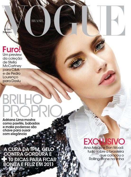 Adriana Lima Covers Vogue Brasil February 2011