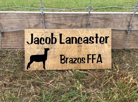 Show Lamb Show Sheep Stall Sign Show Ewe Barn Stall Sign