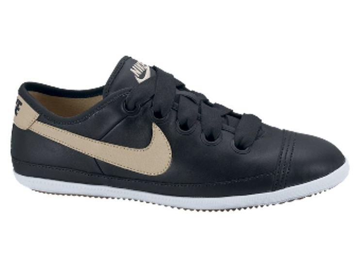 Dames Nike Flash Macro Leather Sneakers Zwart Beige Goud,HOT SALE!
