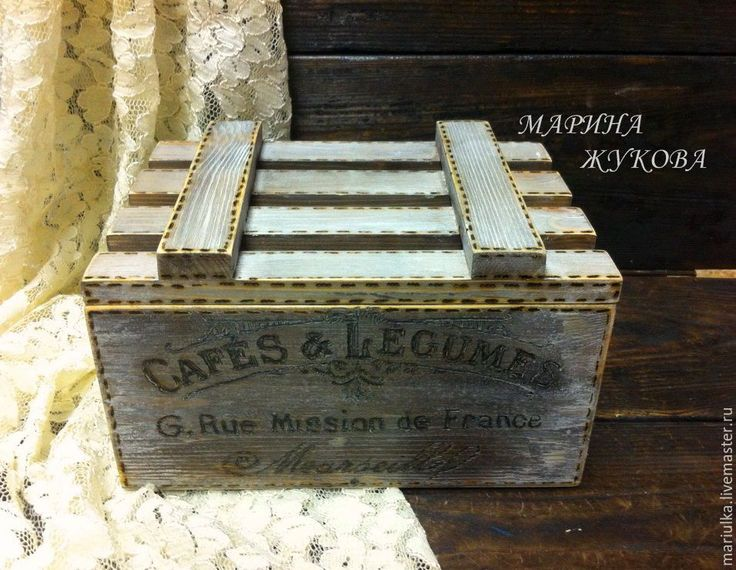 """Купить Короб-ящик """"Овощное кафе"""" - ящик, ящик для хранения, ящик деревянный, короб"""