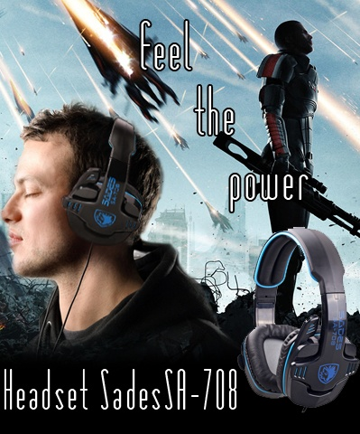 Feel The Power...!!!  Headset Sades SA-708.