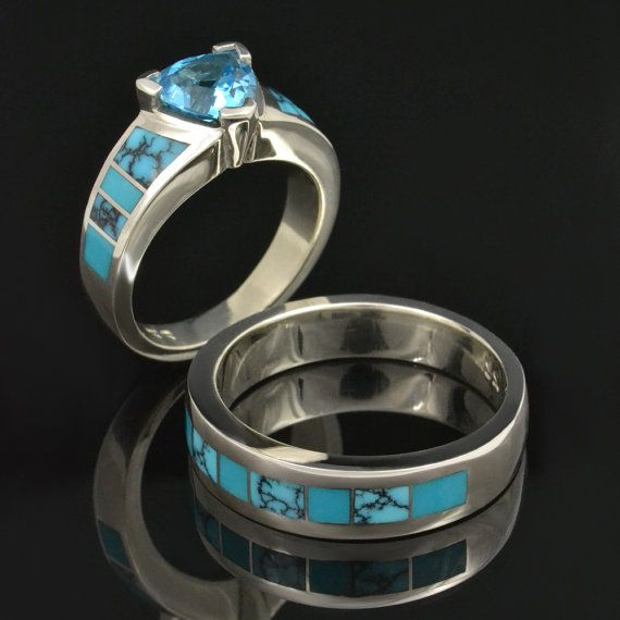 Spiderweb Turquoise and Turquoise Wedding by TheHilemanCollection