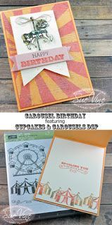 Sue Vine | MissPinksCraftSpot | Stampin' Up!®️️ Australia Order Online 24/7 | Carousel Birthday | Cupcakes and Carousels | Banner Punch | #cupcakesandcarousels #carousel birthday   #bannertriplepunch #stampinup  #handmadecard #rubberstamp #gdp080