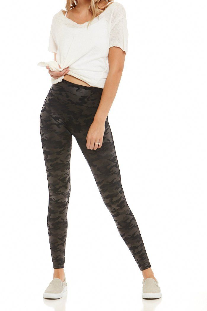 da46e97af4709 Spanx Faux Leather Camo Leggings in 2019 | #FABRIKSTYLE | Camo leggings  outfit, Camo leggings, Faux leather leggings