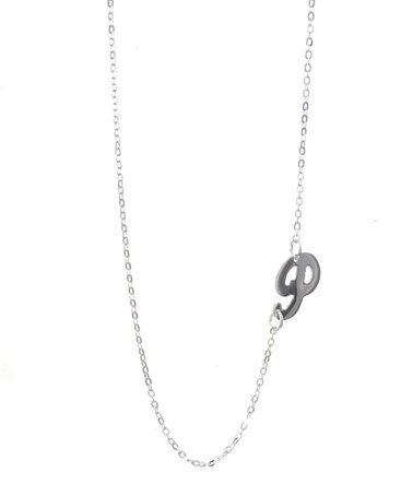 Take a look at this Sterling Silver Script Side Initial Pendant Necklace by NameJewelrySpot on #zulily today!