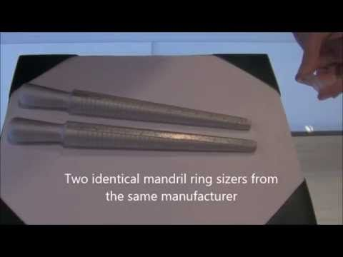 How to Get Your Rigns Properly Sized for Johan Men's Wedding Band.  Use Mandril Ring Sizers