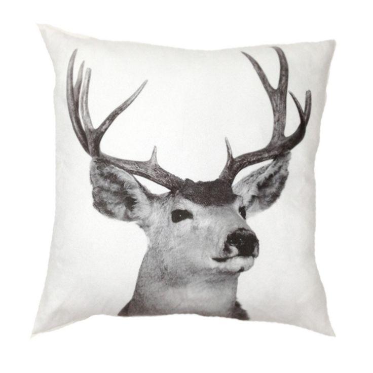 Deer Suede Look Cushion