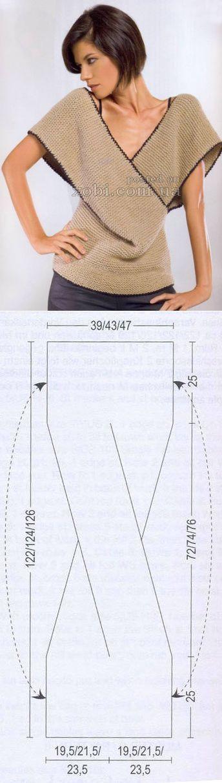 blusa con estantes cruzados