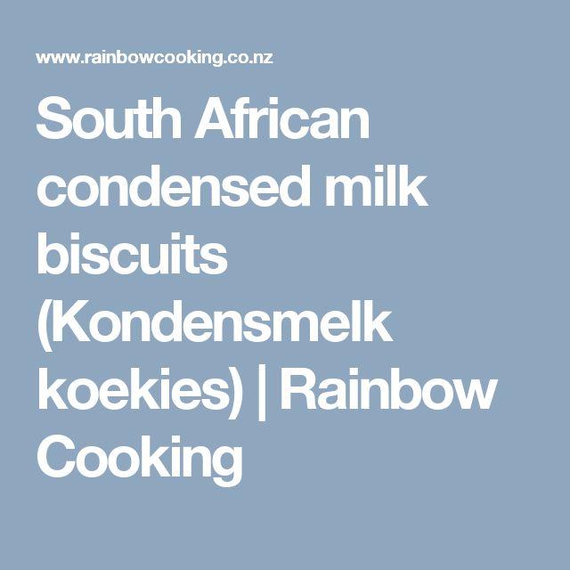 South African condensed milk biscuits (Kondensmelk koekies)   Rainbow Cooking