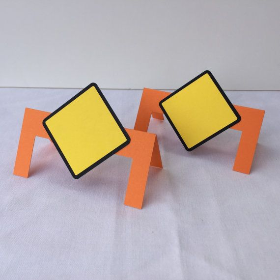 Construction Theme Place Cards Construction by DecorateYourBigDay