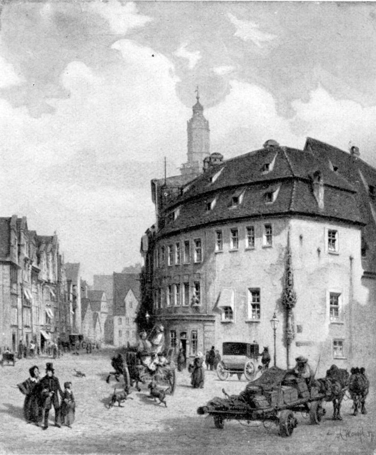 Zbieg ulic Ruskiej i św. Mikołaja.Rok 1857