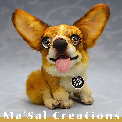 Ma'Sal original Dolly Doggy series - Welsh Corgi / Direct from the Artist #AllOccasion