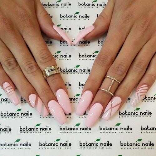 нарощенные ногти гель-лаком фото