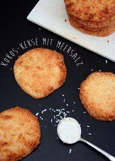 Kokos-Kekse mit Meersalz