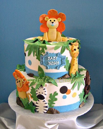 Jungle Safari Baby Shower Cake