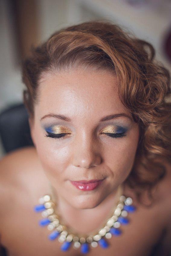 Machiaj pentru Nunti si  Evenimente Speciale Albastru si Auriu ❤️ Make-up for Weddings and Special Events Gold and Blue