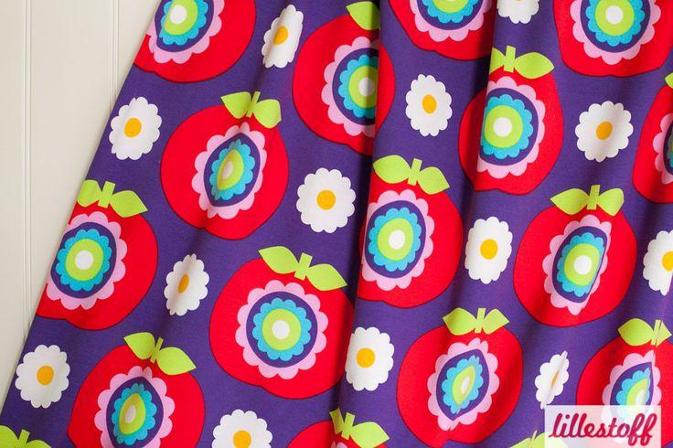 lillestoff » Grand Apple purple « // Design: Sari Ahokainen // ausverkauft
