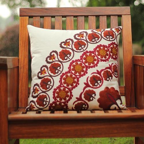 Cojines bordados dm bordado kaozhen almohada funda de - Cojines hechos a mano ...