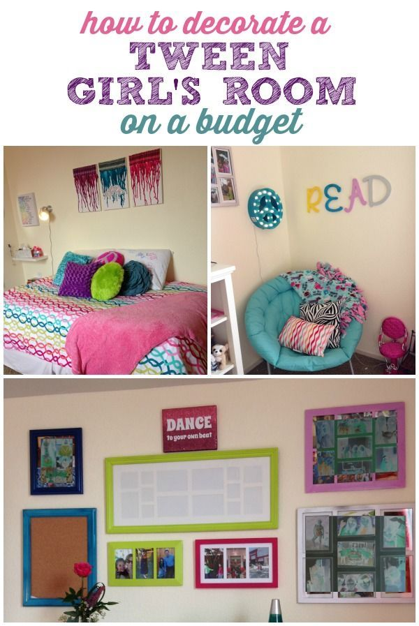 How to Decorate a Tween Girl's Room on a Budget! DIY ideas to complete the room of her dreams!