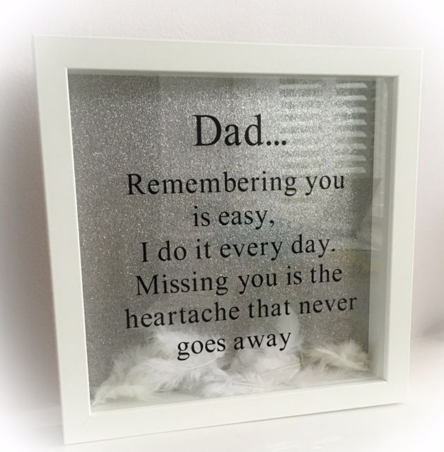 A beautiful frame to remember loved ones forever A perfect gift for Father s Day Frame measures 25cm x 25cm and is available in Black or White Any