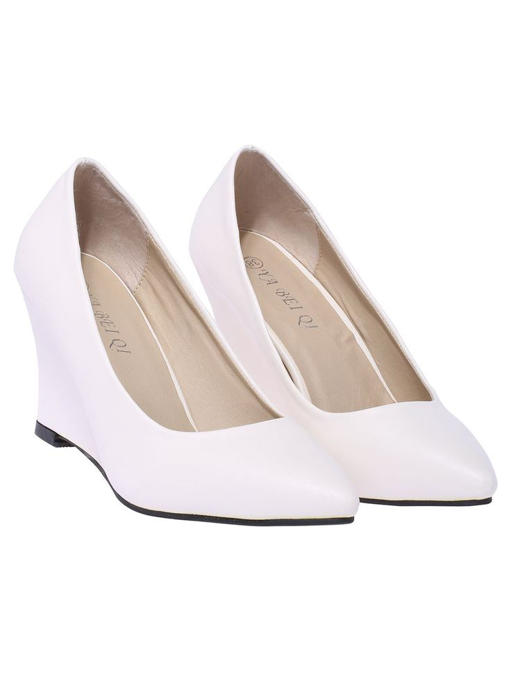White High Heel Point Toe Shoes 31.33