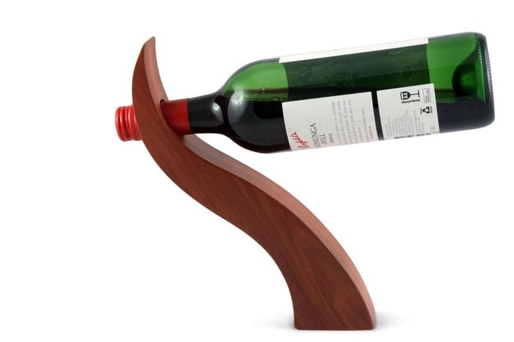 Curved wine bottle holder plans woodworking projects plans - Wine bottle balancer plans ...