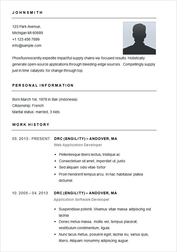Easiest Resume Template Simple Resume Examples Basic Resume Simple Resume Template