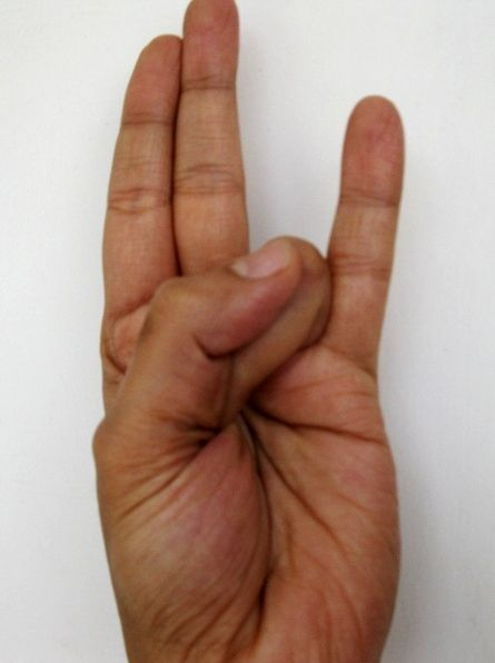 Surya Mudra – for reducing excess fat and lowering bad cholesterol - this one is a must!!!! lol