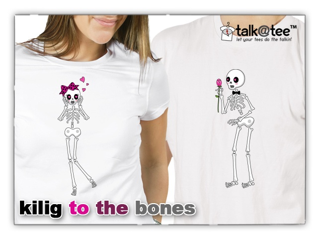 couple shirt kilig to the bones let your tees do the talkin