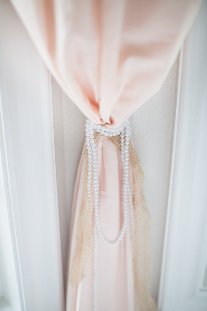 Project Nursery - Pearls for Curtain Tie Backs