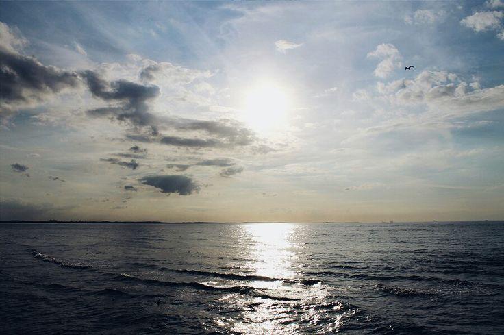 Międzyzdroje w Województwo zachodniopomorskie Sun, baltic sea, Międzyzdroje, summer, sky, photography