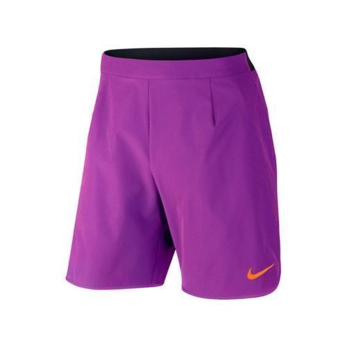 "Nike Men's Gladiator Premium 9"" Tennis Shorts Vivid Purple 728980 584 sz L #Nike #Athletic"