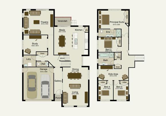 1000 images about 250 300 sqm floor plans and pegs on for Modern house design 300 sqm