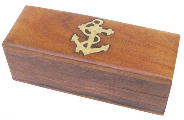 Maritime Holzbox 10x4x3,5cm