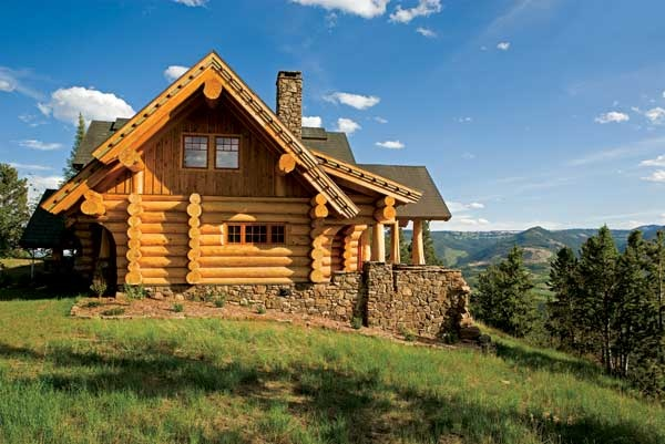 Montana log home just plain pretty pinterest for Montana home builders