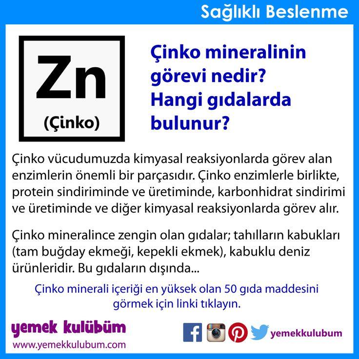 BESLENME : Çinko minerali hangi gıdalarda bulunur?   http://yemekkulubum.com/icerik_sayfa/cinko-zn