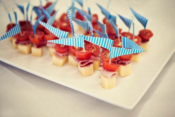 Rockets and Aliens Birthday Party - Flag Finger Food Picks