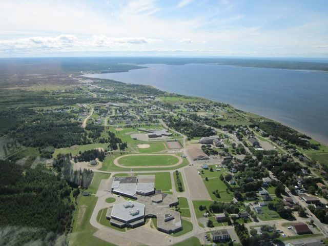 Caraquet, New Brunswick from the sky.