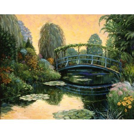 Monet Garden III Canvas Art - Bob Pettes (19 x 15)