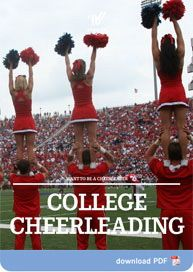 Are you a high school cheerleader and think you may one day want to cheer in college? If so, the ABC's of College Cheerleading is what you need to read!