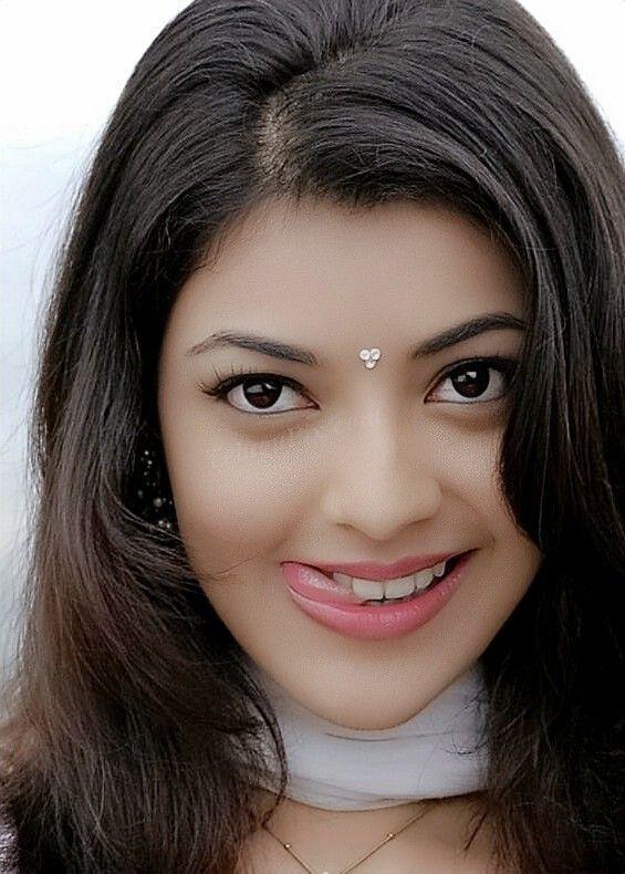 Gorgeous Telugu Girl Kajal Aggarwal Smiling Face Closeup Gallery