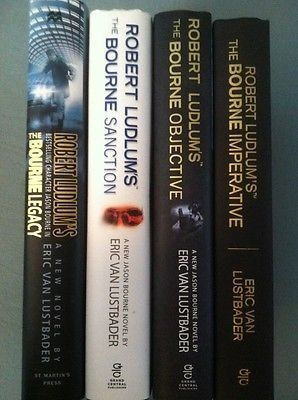 nice LN 1st1st Set of 4 Robert Ludlum's Jason Bourne books by Eric Van Lustbader HC - For Sale