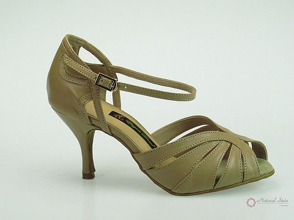 Natural Spin Latin Shoes(Small Open Toe):  M1310-20_BeBrP